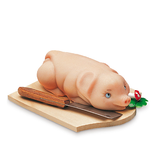 Schwein mit Beil