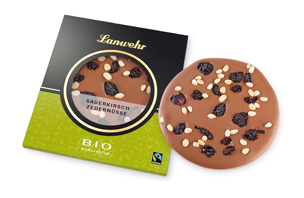 Sauerkirsche Zedernüsse Schokoladentaler