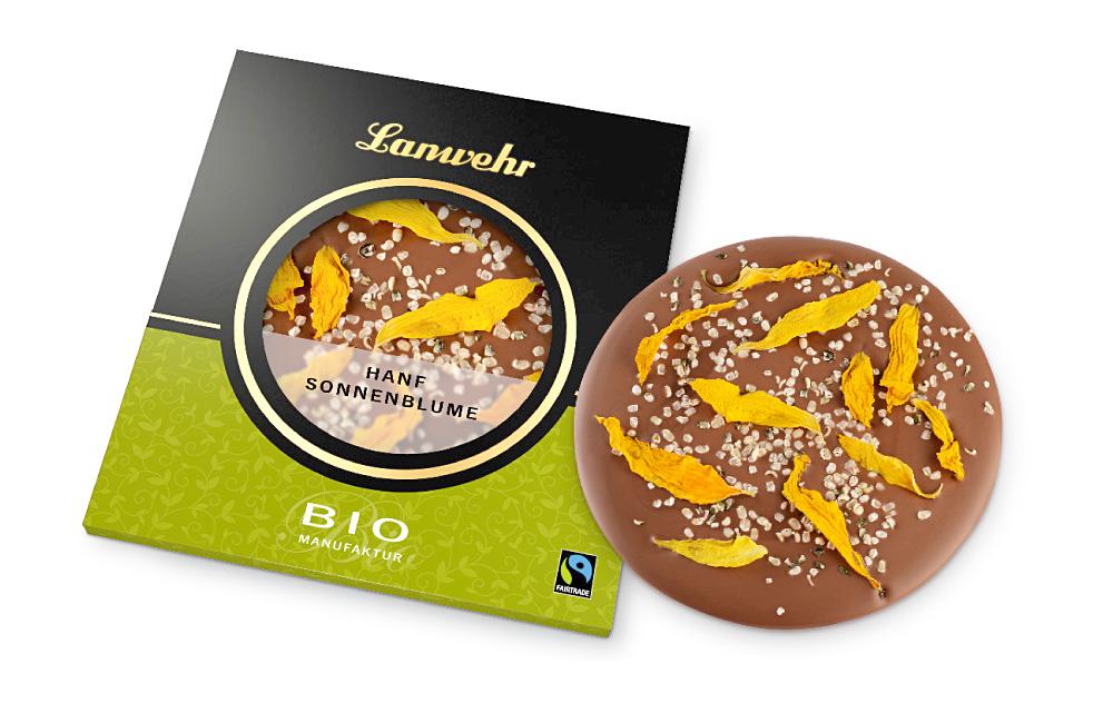 Hanf Sonnenblume Schokoladentaler